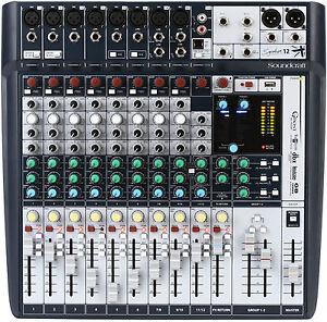 Like-N-E-W-Soundcraft-Signature-12-USB-Mixer-Opened-Box-Never-Used
