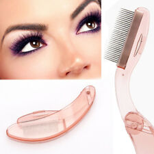 Foldable Steel Eyebrow Eyelash Extension Brush Metal Comb Cosmetic Makeup Tool
