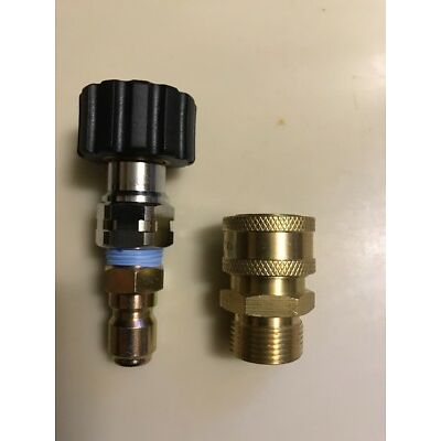 "3/8"" Coupler Set Non Standard M22 Metric(15mm) For Pressure Washer Sun Joe"