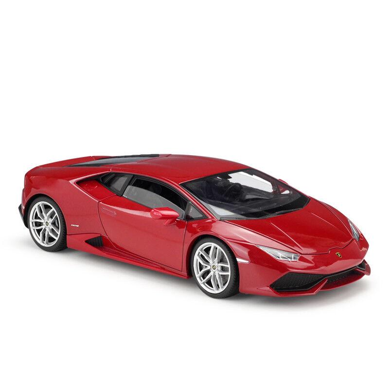Welly 1 18 Lamborghini Huracan LP610-4 Rojo Coche Modelo Diecast