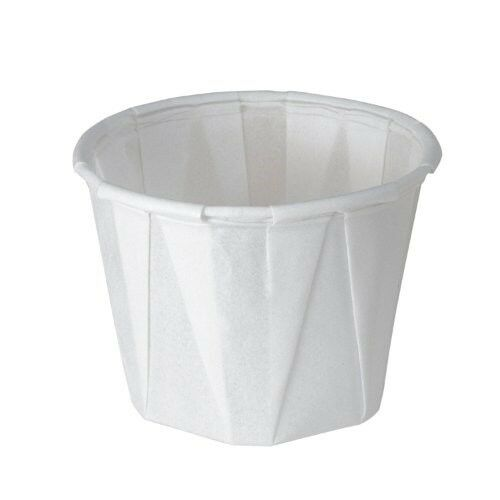 20 Packs of SOLO 100-2050 1-oz White Treated Paper Pleated Soufflé Portion Cup