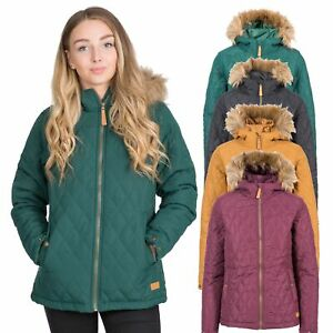 Trespass-Genevieve-Womens-Padded-Jacket-Casual-Quilted-Coat-With-Hood