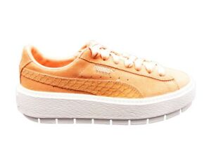 brand new b549c 0b01b Details about Puma Suede Platform Trace Animal Sneakers Coral White  367814-03
