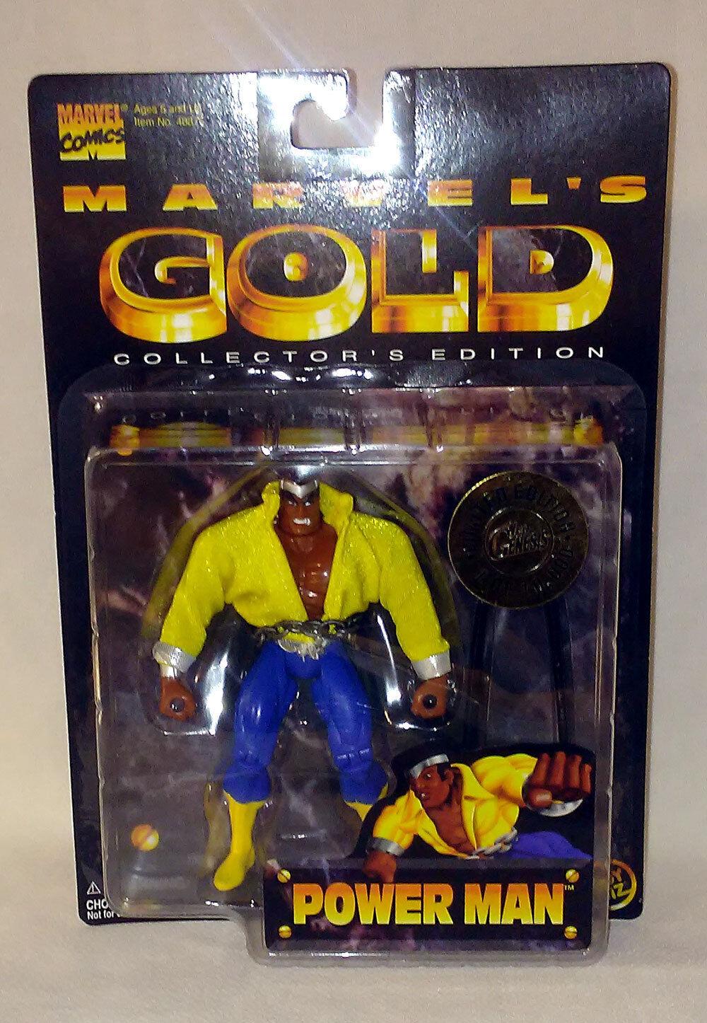 Power Man (Luke Cage) de MARVEL or EDITION COLLECTOR TOYBIZ  1997  économiser jusqu'à 80%