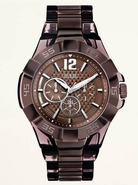 Guess Men's Multifunction Bold Brown Sport Watch - U0042G2