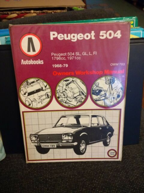 Peugeot 504 AUTOBOOK not HAYNES Manual, Used; VGC All Models Free P&P Rare
