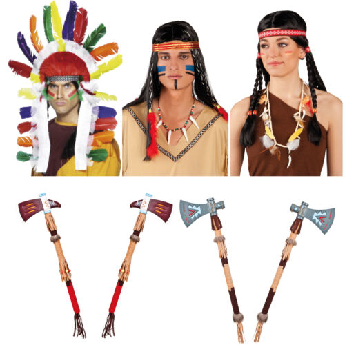 Adults Indian Tribal Warrior Fancy Dress Accessories For Halloween Party Nights