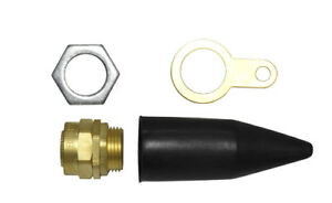 Brass Indoor Cable Glands Earthing Shroud Armoured Steel Wire Various Sizes
