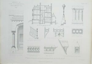 1868-Architektonisch-Aufdruck-Bergahorne-Manchester-Paull-Ayliffe-Treppe-Balkon
