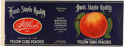 *Original* PASS Cahuenga Lankershim NORTH HOLLYWOOD Peach Can Label NOT A COPY!
