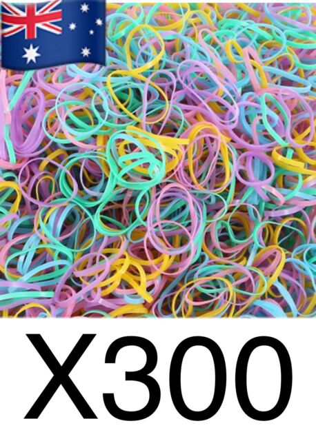 300+ pcs Coloured  Ponytail Holder Elastic Rubber Band Hair Ties Ropes Rings