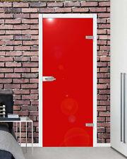 VSG Ganzglastür Drehtür Glas Zimmer Tür Glastür hochglanz rot 959 x 1972 mm