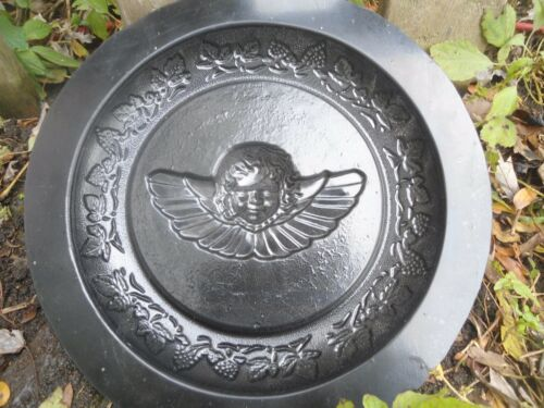 concrete plaster mold angel mini birdbath plastic mould