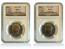 2018 P /& D Kennedy Half Dollar 2 Coin Set 50c NGC MS67