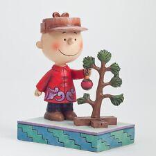 Snoopy Christmas Figurine Peanuts Charlie Brown Jim Shore Pathetic Tree 4042371