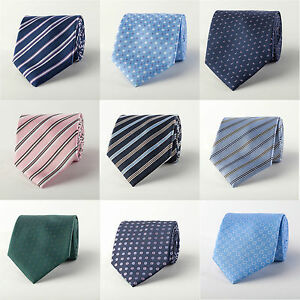 Mens-Formal-Ties-Luxury-Designer-Striped-Pattern-Bulk-Lot-3-Business-Wedding-A