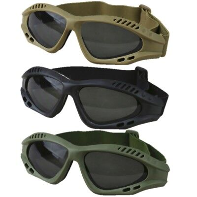 SPECIAL OPS GLASSES TINTED TACTICAL SPORTS PADDED GOGGLES PAINTBALLING AIRSOFT