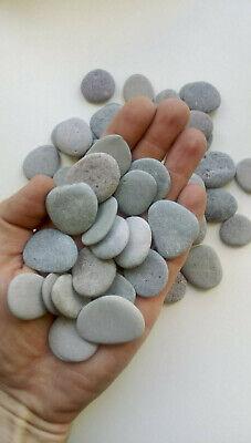 crafts 20 flat pebbles stones 20-30mm for painting mosaic aquarium