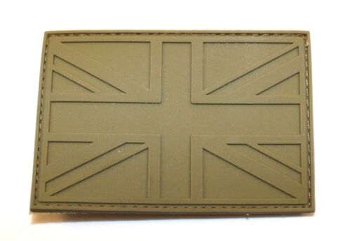 MOD Tactical Police Airsoft Morale Badge Coyote Subdued Union Jack Patch