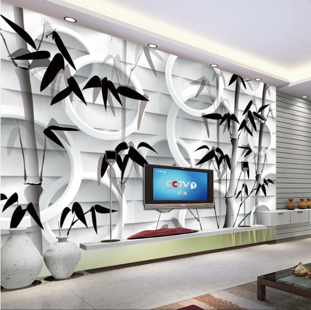 3D Schwarze Blätter Bambus Bambus Bambus 84 Tapete Wandgemälde Tapete Tapeten Bild Familie DE   New Style    Hervorragende Eigenschaften    Elegante und robuste Verpackung  edc755