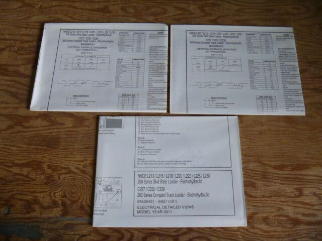 2011 New Holland L213 L215 L218 L220 Skid Steer Electrical Wiring Diagram Manual
