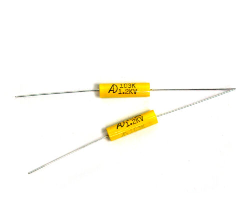 100pc MPT Metallized polypropylene Film Capacitor 103 0.01uF 1200V K ±10/% Axial