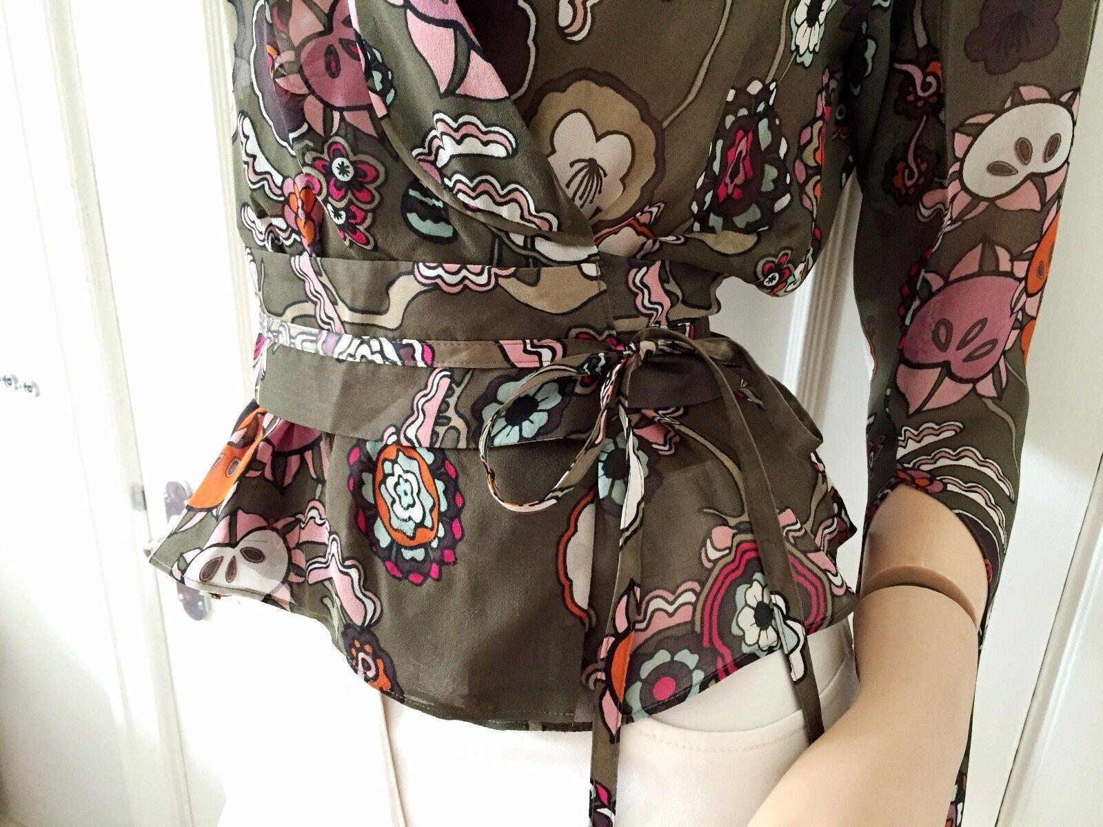 KENZO Seta Floreale Kimono Avvolgente Camicetta (vendita al dettaglio ) ) ) 7558b3
