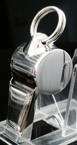 Sterling Silver Referee Whistle Dog Training Scottish Hallmarked