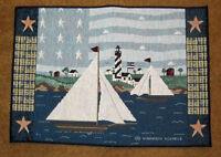 America The Beautiful Sailboat Tapestry Placemat Artist, Warren Kimble