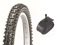 Bicycle Tyre Bike Tire - Mountain Bike - 26 x 1.95 - With Schrader Tube