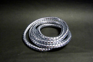 Highway-Hawk-Spiral-Motorcycle-Cable-Cover-Chrome-1-5m-3-16-BC728-T