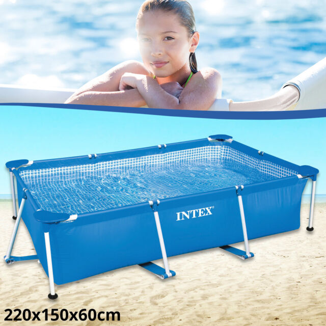 Intex Schwimmbecken Rechteck Frame 260x160x65cm Schwimmbad Swimming Pool