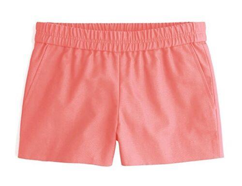 passeggio passerella da l Shorts cotone Crew Lino Womens Nwt 14 Coral Factory J da UqP4x