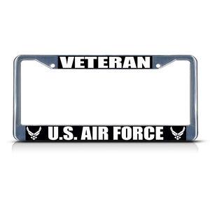 VETERAN U.S NAVY  Chrome Heavy Duty Metal License Plate Frame