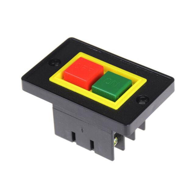 AC 380V 2KW I/O On-OFF Start Stop Push Button Switch 6 Screw Terminals SE