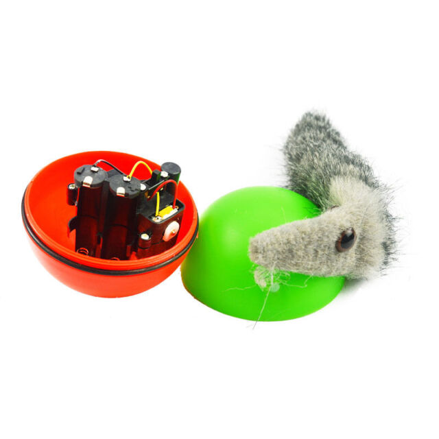 Hot Funny Pet Dog Puppy Cat Rolling Ball with Weasel Motorized Appears Jump Toy