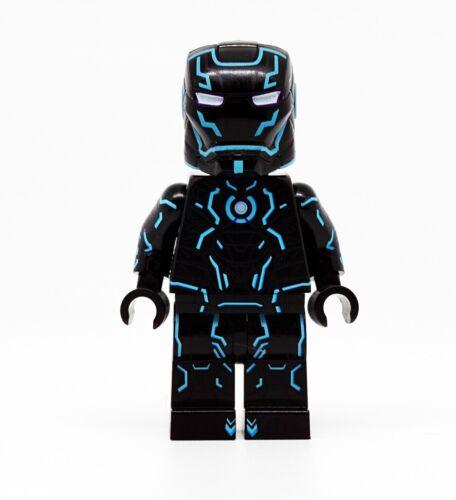 ⎡BRICK ZONE⎦Custom Black Iron Man Tony Stark Lego Minifigure