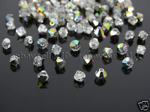 100Pcs-Top-Quality-Czech-Crystal-Bicone-Beads-Exclusive-3mm-4mm-Crystal-Vitrail