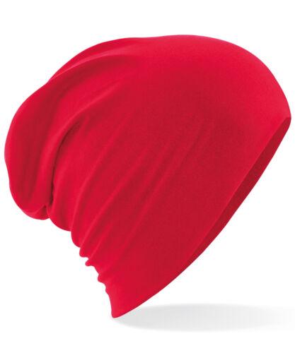 Beechfield Hemsedal Cotton Slouch Beanie Light casual stretch hat men//women