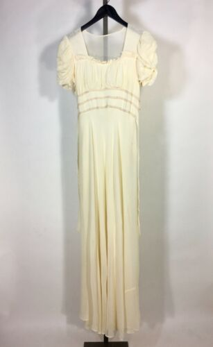 Vintage 1930's Pink-Ivory Silk PRINCESS gown dres… - image 1