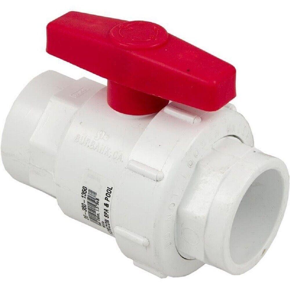 Flo control 1350-15 Válvula de bola 1.5  x Slip Slip blancoo