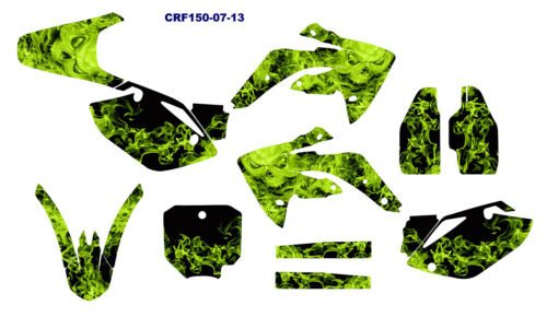 CRF150R graphics 2007 2008 2009 2010 2011 2012 2013 2014 2015 #9001 Neon Green