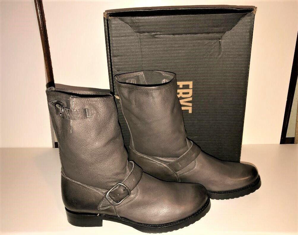 NIB FRYE Veronica Short Boots SZ 9.5 Smoke Leather NEW