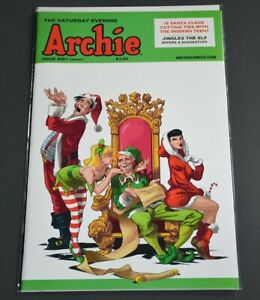 2014 COMIC BOOK NM ARCHIE #661 HOLLY JOLLY VARIANT COVER