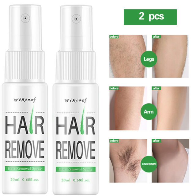 2 Pcs Powerful Hair Removal Spray Natural Hair Remover Permanent