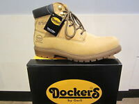 Dockers Boots Lace Up Boots Boots Yellow, Leather, Fabric Lining