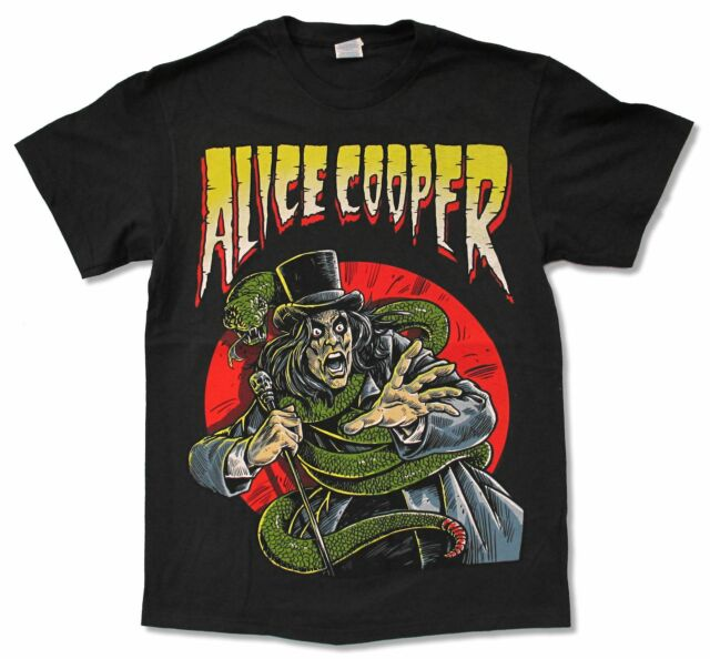 "ALICE COOPER ""COMIC BOOK"" BLACK T-SHIRT NEW OFFICIAL MUSIC ADULT"
