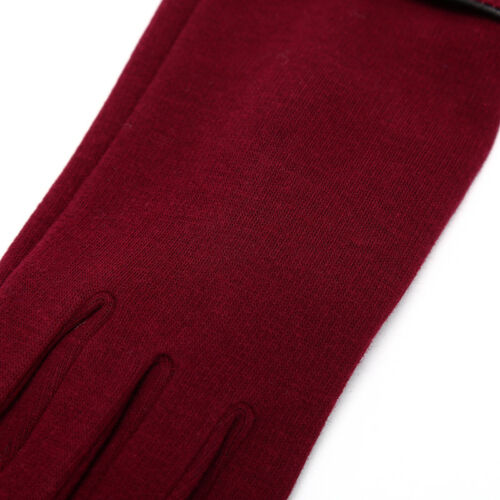 Women Ladies Winter Warm Thick Fleece Lined Thermal Button Touch Screen Glove TK