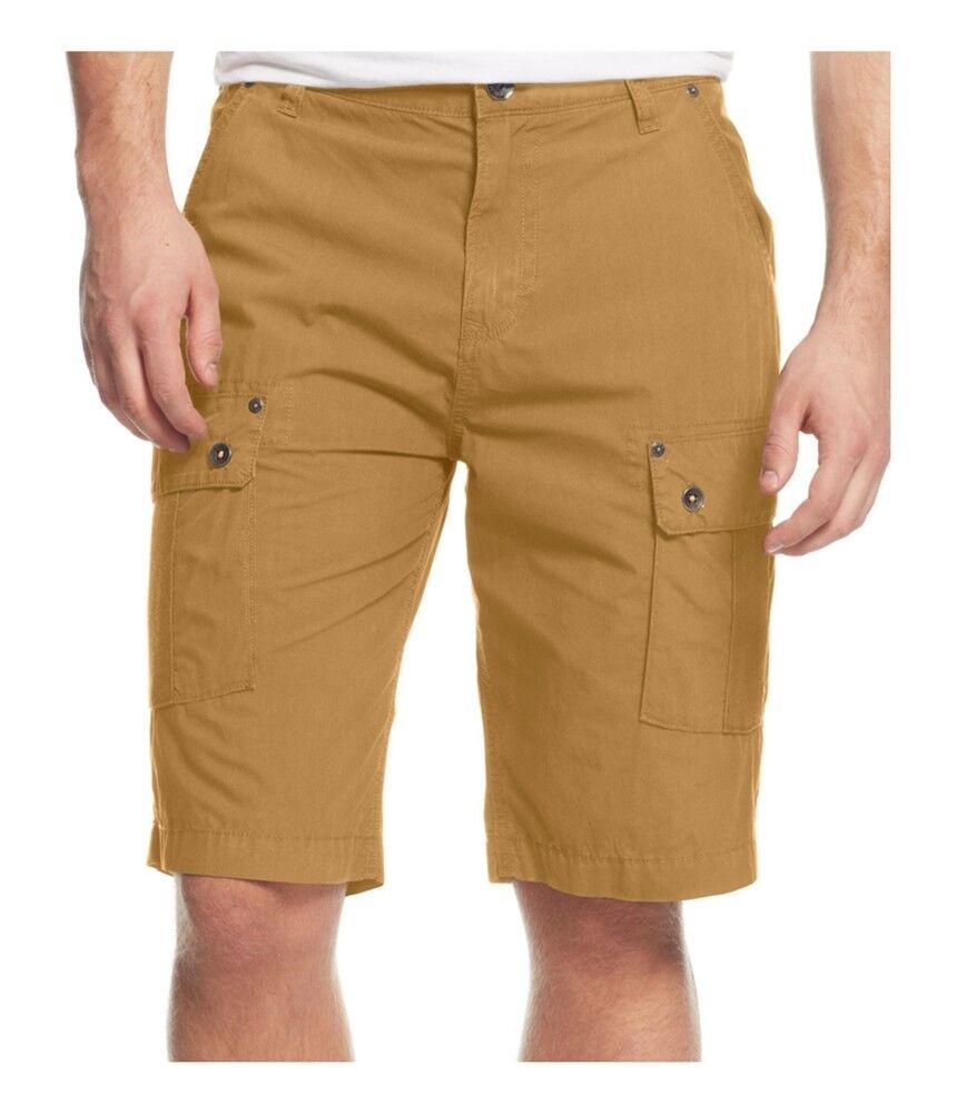 GUESS Mens Paul Poplin Casual Cargo Shorts
