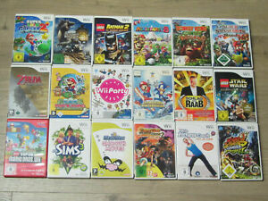 Nintendo-Wii-Spiele-Zelda-New-Mario-Galaxy-Kart-Party-Smash-Bros-Donkey-Kong